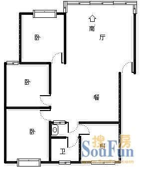 凤凰苑小区租房,三室两厅,未来路凤凰苑110平多层三楼2300