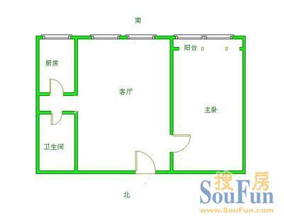 和韵佳园和韵家园 1室 户型1室1厅1卫1厨 75.00�O