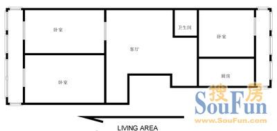 南上山学区房 3室 户型图3室1厅1卫1厨 103.00㎡
