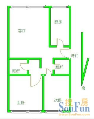 福成五期户型图 高清图片