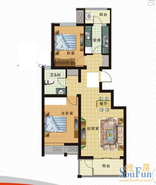 两室两厅一卫 高清图片