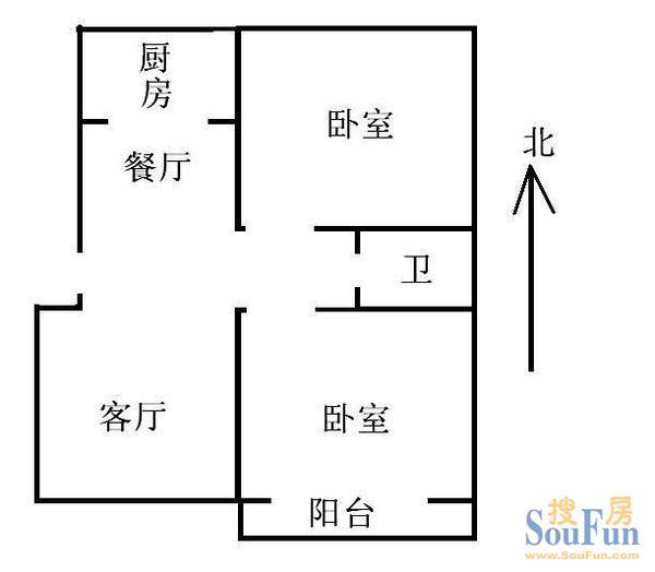 众诚商住楼租房,两室两厅 高清图片