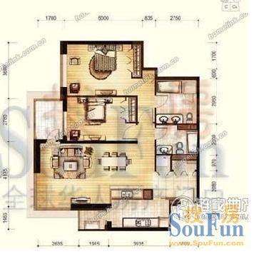 两室一厅房屋设计图纸展示