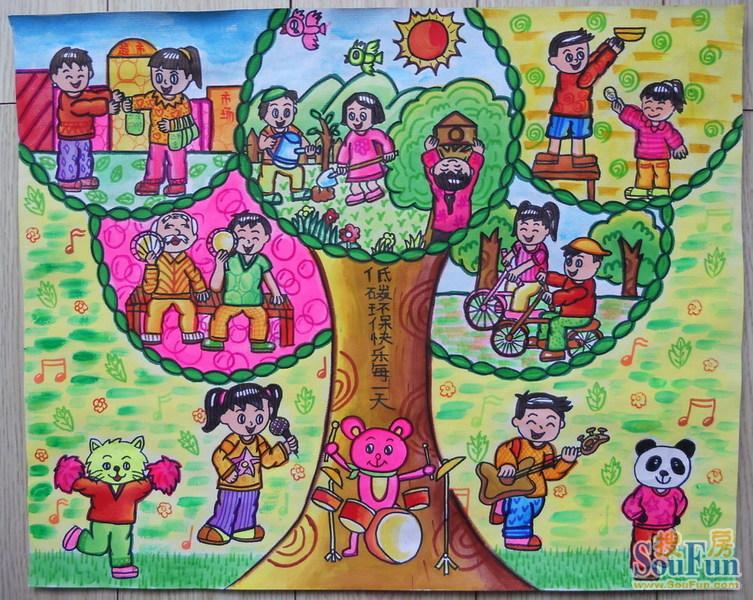 儿童低碳创意绘画图片