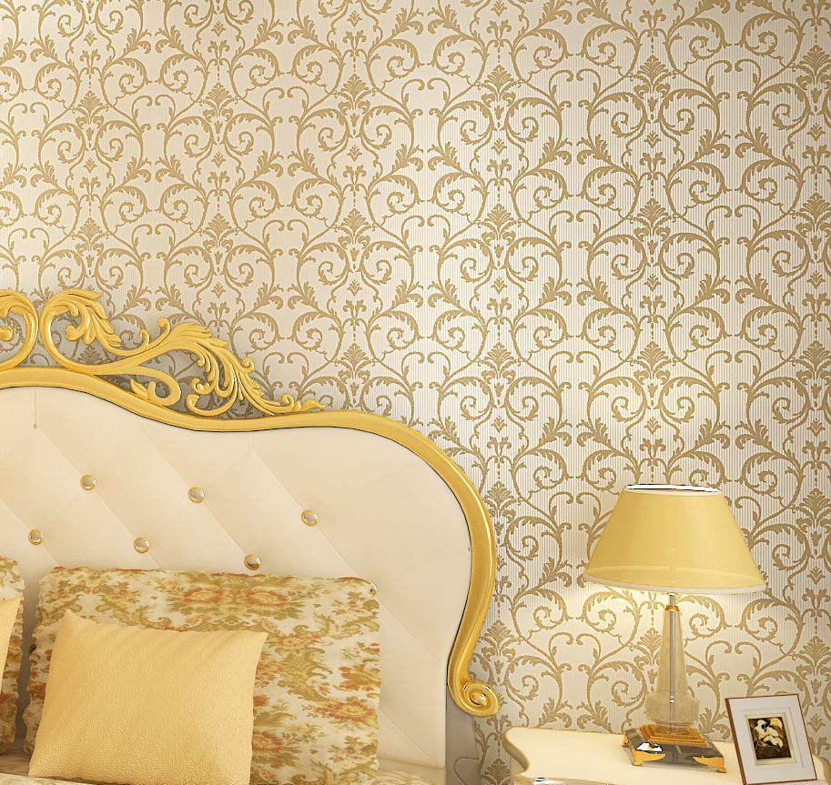欧式卧室无纺布墙纸图片