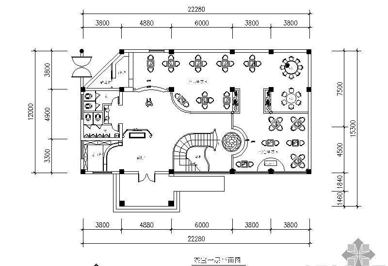 临水茶室设计平面图