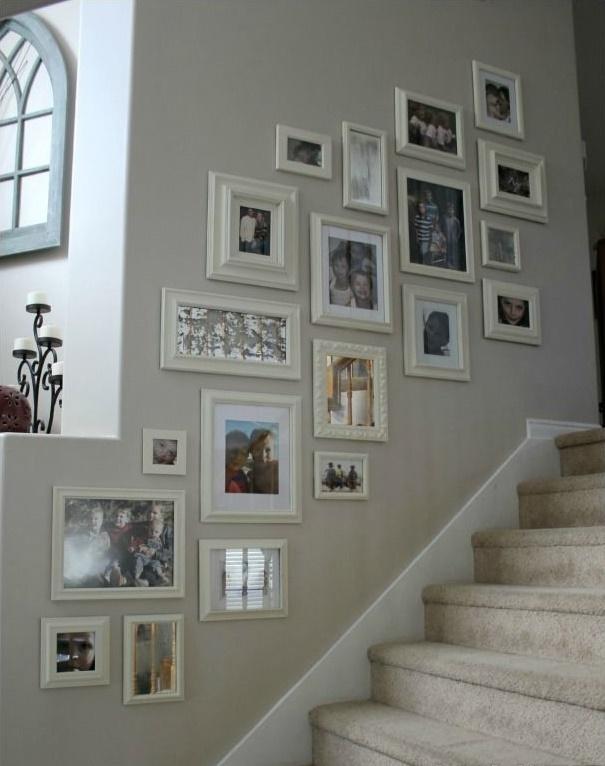 相框墙安装方法_楼梯相框墙安装图片