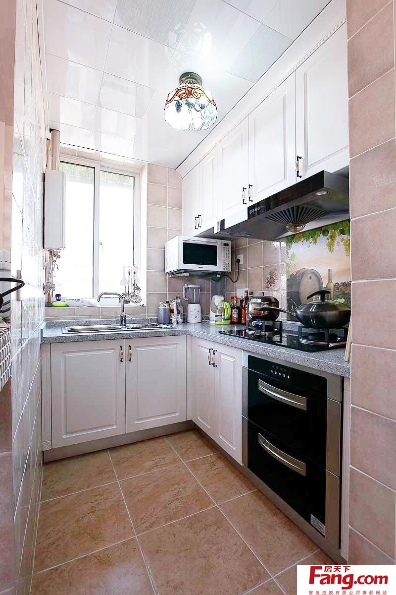 厨房橱柜装修效果图_2018家装L型厨房橱柜效果图-房天下装修效果图