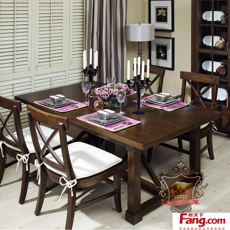 餐厅装修黑胡桃木家具效果图图片