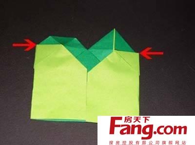 立体四叶草的折法图解