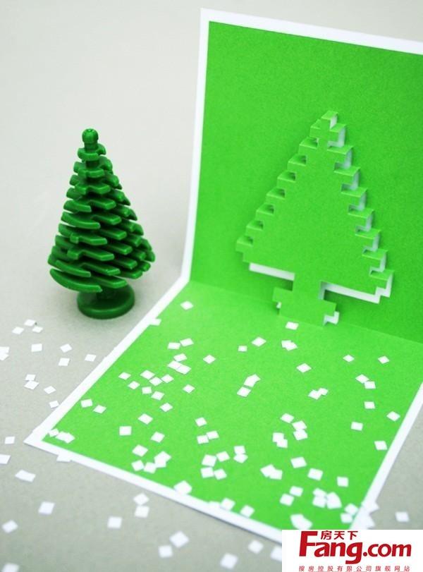小学生卡纸手工制作大全图片 圣诞节立体贺卡