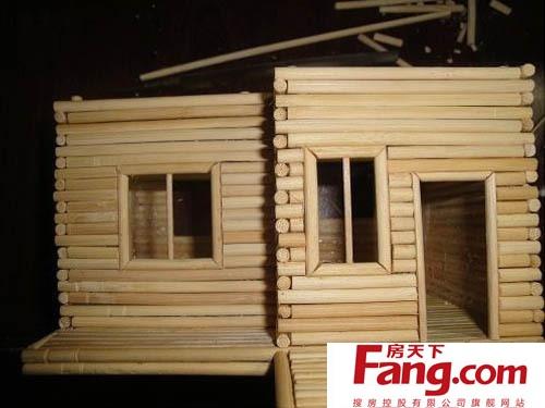 diy手工制作小木屋 一次性筷子的大用处