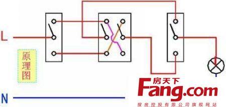 双控开关接线图 最全 含电路图原理和接法图片