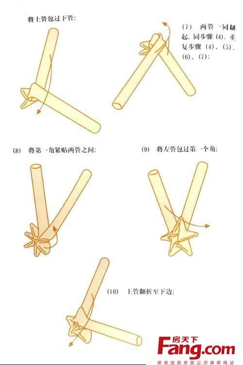 先看效果,接下来是详细步骤哦~                  吸管星星的折法