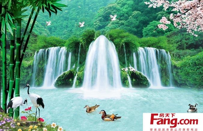 壁纸 风景 旅游 瀑布 山水 桌面 676_436