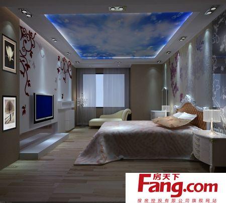 欧式别墅装修效果图-主卧室图片