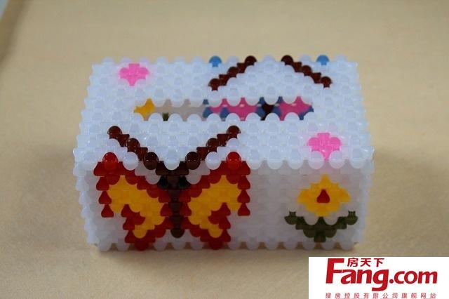 手工串珠纸巾盒教程 奇妙手法你会吗
