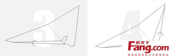 冲浪纸飞机折法图解 学会只要八步