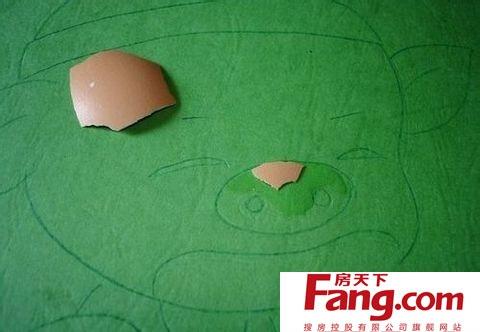 二,蛋壳贴画制作步骤   蛋壳要先洗净晾干,特别是蛋壳内的薄膜要