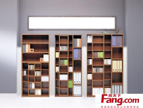 书柜的款式分类:开放式书柜图片