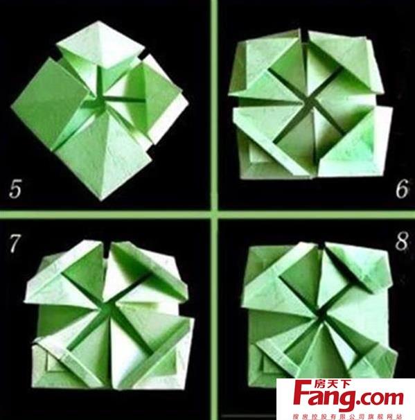八角花篮的折法详细图解