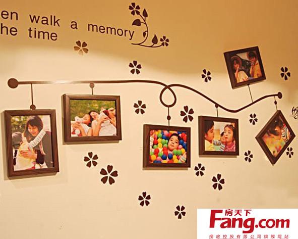照片墙中的照片通常都是孩子可爱的笑脸或者是朋友,家人,爱人间亲密
