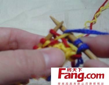 毛衣编织渔网针图解