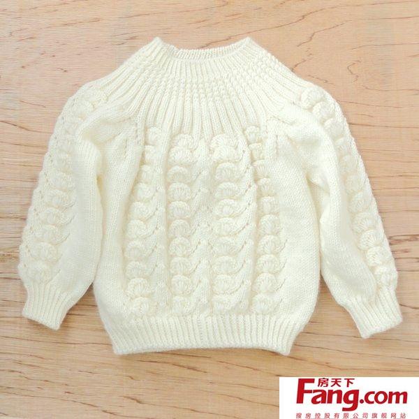 手工编织儿童毛衣图解