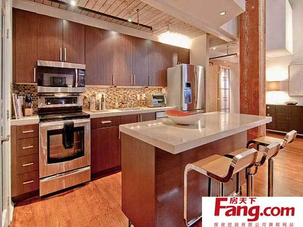 旧金山砖头公寓:厨房,餐厅和卧室设计