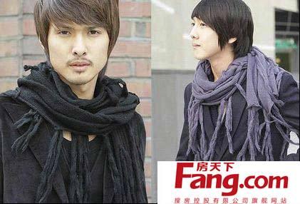 男士围巾织法图解