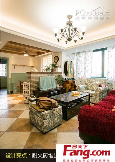 设计师解读:仅有11平方米的客厅,格局方正,利于家具的摆设.