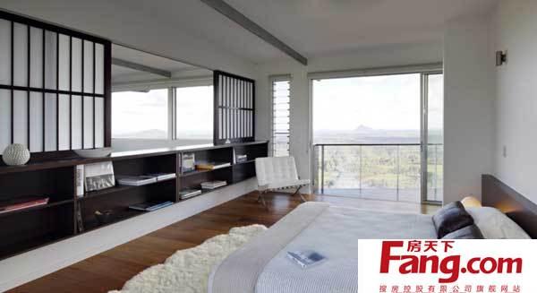 澳洲景观别墅:卧室和浴室设计图片