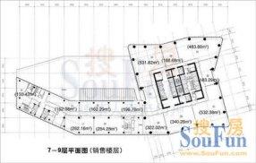 北京财富中心写字楼平面图