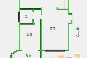 兴龙国际城 中装 全套家具电器 南北通透 含费 年租