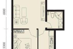 丽湾国际精装修一室一厅好房子