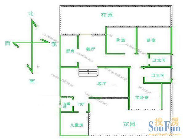 正方形房屋设计图