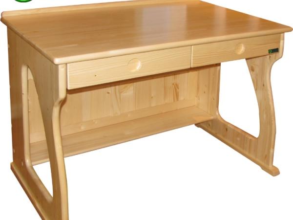 松兰家具 双抽屉儿童学习桌 松木电脑桌 可配书架 学习台 T009
