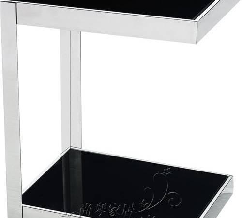 尚琴钢化玻璃不锈钢客厅沙发小茶几/角几/电话几/边几特价643