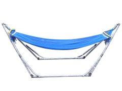正品折叠吊床网状秋千帆布单人休闲支架吊床创意户外吊床包邮