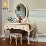 法丽莎家具 包邮 欧式妆台 田园化妆台 实木 妆桌 简约梳妆台 G8