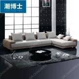 潮博士现代布艺沙发 时尚组合转角沙发 客厅布沙发 出口品牌沙发