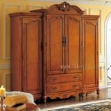 雅居格卧室家具美式实木收纳 衣柜 四门大衣柜 储物柜类A1308