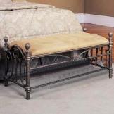 馨生活 欧式 床尾凳 铁艺凳子 创意布艺换鞋架 复古梳妆凳 休闲凳