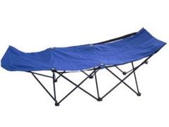 顶乐 双层户外折叠床 便携沙滩床 简易办公室折叠午休床