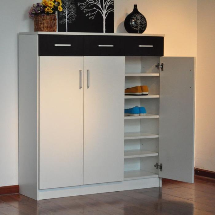 【美宅】简约现代板式鞋柜 门厅家具 3门3抽鞋柜-09 可订制