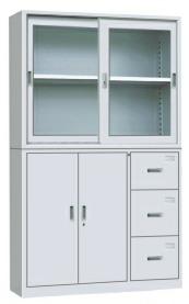 晟昂SA-WJG02宽三偏三斗移门柜 资料柜 书柜 办公家具