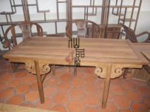 中式红木实木家具鸡翅木仿古家具明清古典家具实木画案红木书桌图片