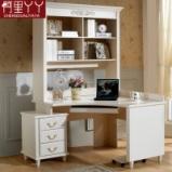 阿里丫丫 转角书桌书架书柜组合 韩式书桌一体式电脑桌烤漆特价图片