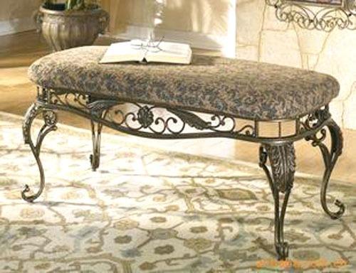 荣谐工艺 欧式铁艺床尾凳沙发凳 门厅穿鞋凳