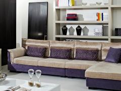华日家居时尚新款麦斯威尔全实木框架布艺组合沙发